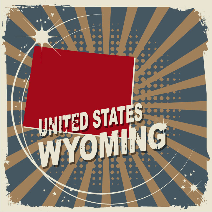 abstract wyoming map