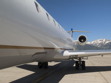 jet on the tarmac at Jackson Hole Airport