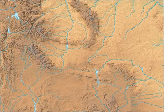 Wyoming relief map